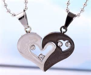 Custom Couple Necklaces Personalized Engrave Interlocking Puzzle From Gullei Com Name