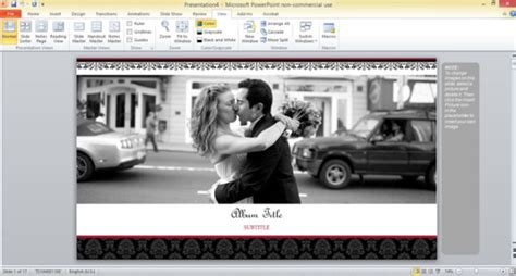 powerpoint themes photo album free wedding photo album template for powerpoint 2013