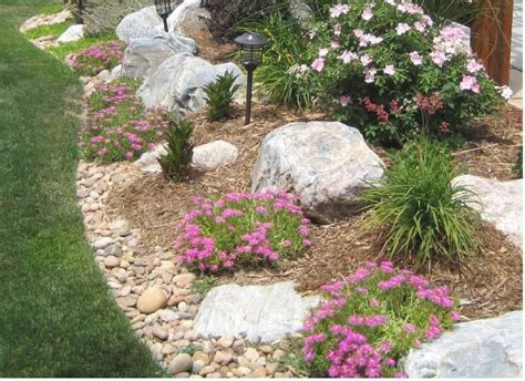 rocks for garden borders rock garden border with bouldrers landscape and outdoors