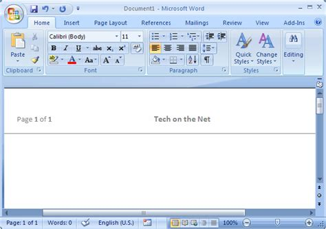 Ms Word 2007 Create A Template From A Blank Document Microsoft Word Document Templates