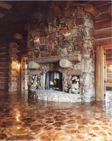 log floor log end flooring building