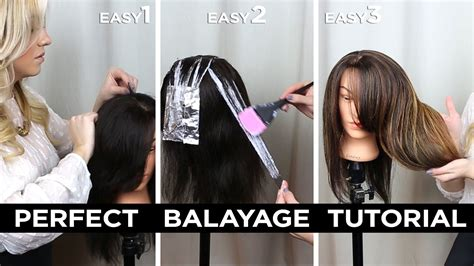diy step by step at home balayage tutorial