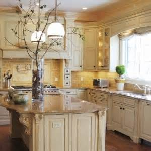 Kitchens With Different Colored Islands Cream Color Kitchen Cabinets But Needs A Different Color