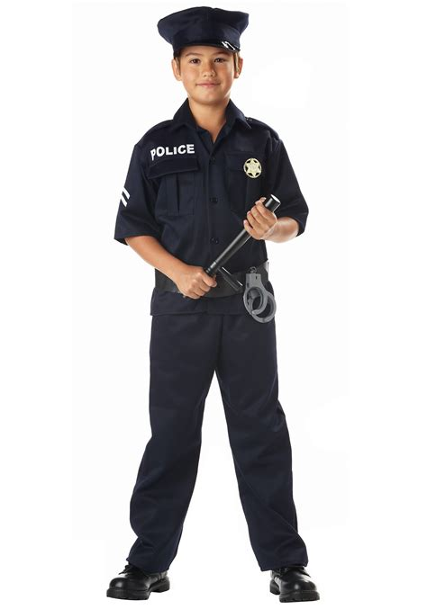 officer costume child realistic cop costumes