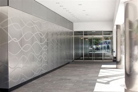 stainless steel wall panels modern terrace area with grey stencil stainless steel wall panels led recessed ceiling lights