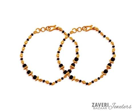 black bangles for baby black baby bracelet 22k ajkb59667 22k gold baby