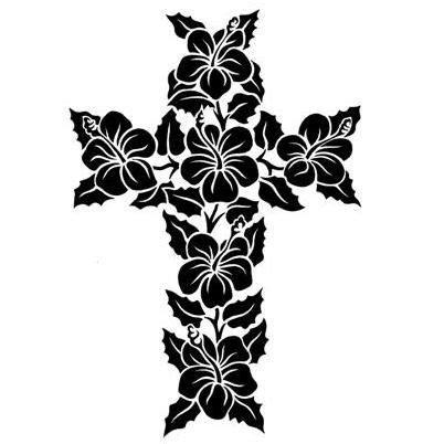 cross and flower tattoo designs hawaiian flower designs pin hawaiian flowers