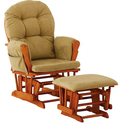 oak glider rocker with ottoman storkcraft hoop glider and ottoman oak and sage