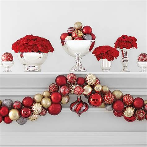 martha stewart white christmas ornaments ornament garland made with martha stewart living regal ornaments 101 pack