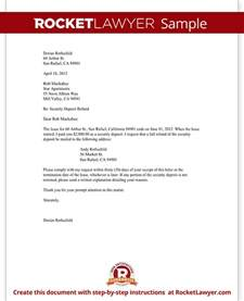 tenant s security deposit refund letter template with sample