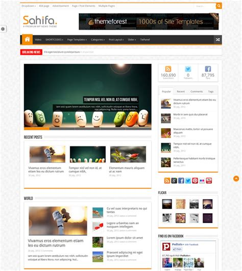 sahifa theme color 50 best news magazine wordpress themes for 2018