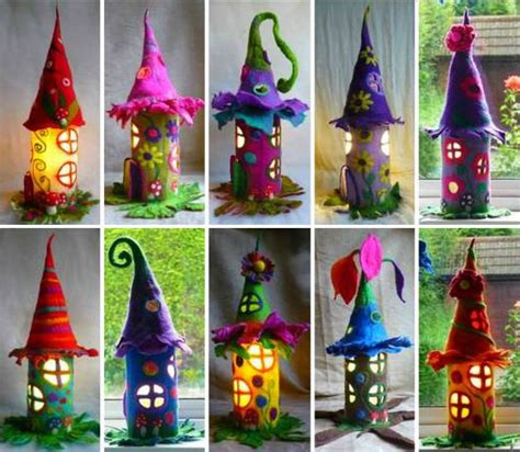 felt houses are magical and whimsical the whoot