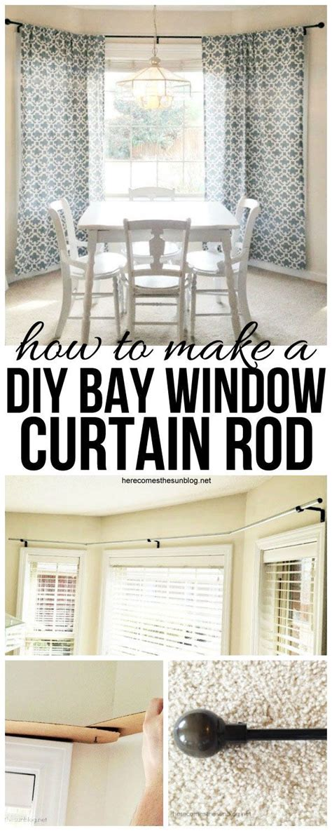 bay window curtain rod diy best 25 diy bay window curtains ideas on pinterest bay