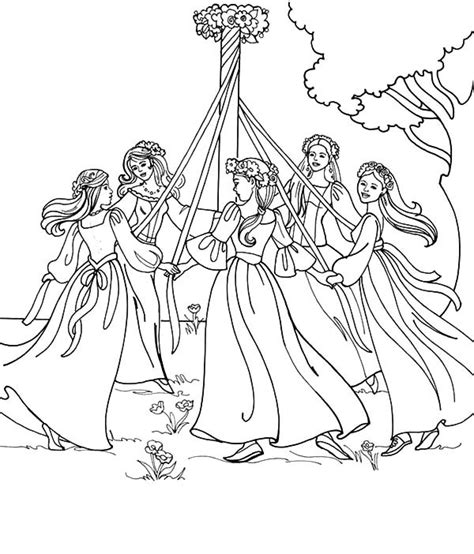 coloring pages for may maypole on may day coloring pages best place to