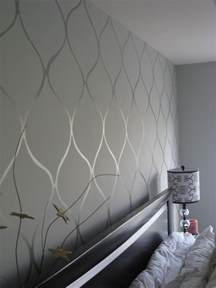 paint on wall use gloss and matte to create neat wall patterns painted