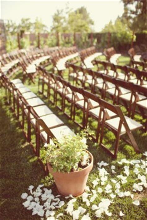 outdoor wedding aisle elizabeth designs classic backyard garden wedding brandon kidd photography