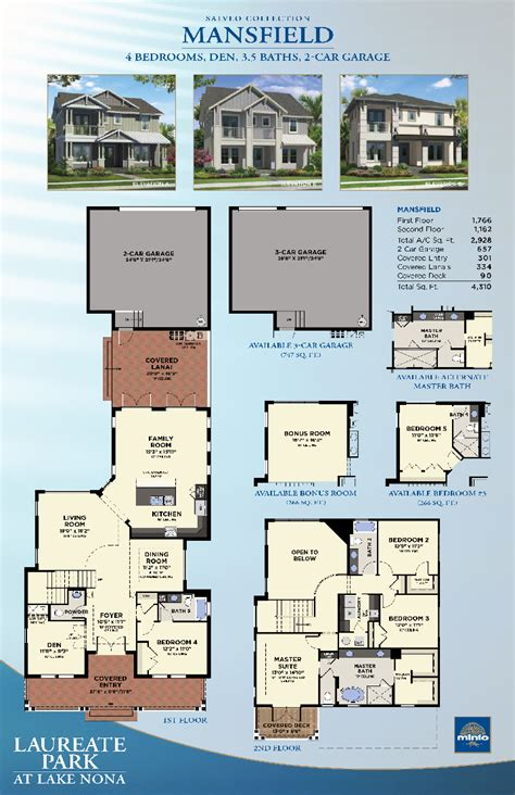 Laureate Park At Lake Nona Mansfield New Homes In Lake Nona Floor Plans