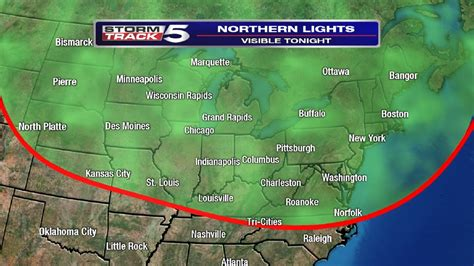 northern lights viewing map northern lights viewing possible in wcyb