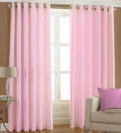Pink Window Curtains Pindia Solid Baby Pink Window Curtains Set Of 2 5 Ft By Pindia Solids Furnishings
