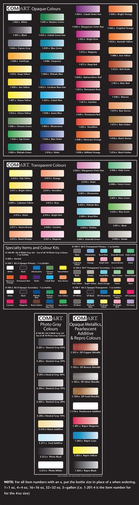 colours midwest airbrush supply
