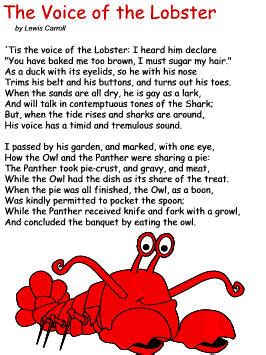 the voice lobster hair the voice of the lobster by lewis carroll