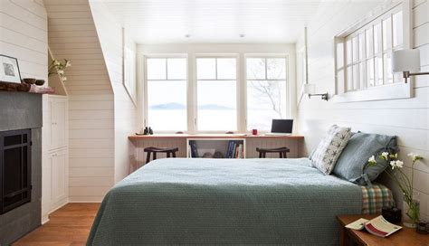 bedroom with desk bed desk combos save space and add interest to small rooms