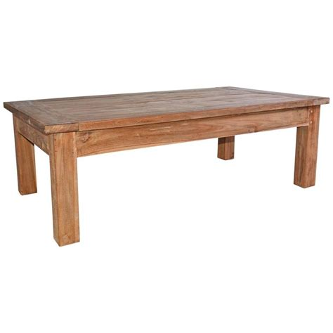 rustic outdoor coffee table rustic indoor or outdoor teak coffee table for sale at 1stdibs