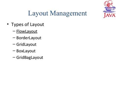 layout manager gridbaglayout java swing