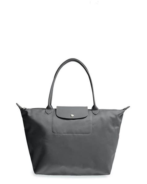 Lc Neo Grey Size S longch large le pliage neo tote in gray lyst