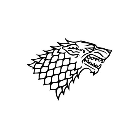 stark wolf of thrones vinyl decal colors