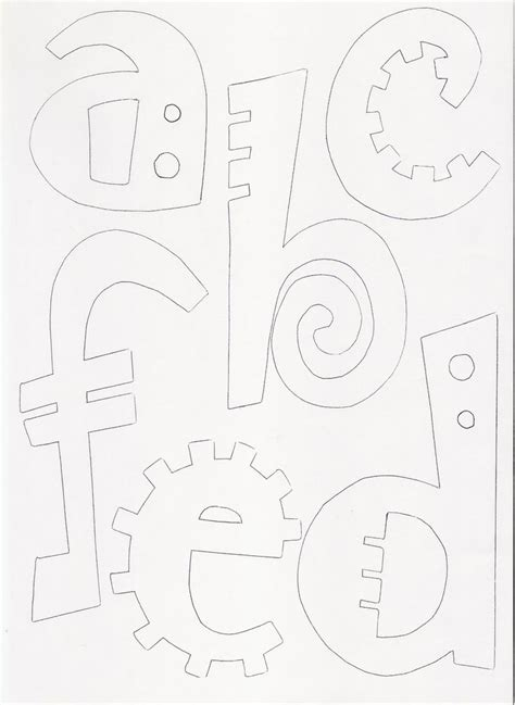 as 25 melhores ideias de moldes de letras no