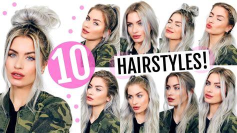 back to school heatless hairstyles 10 heatless back to school hairstyles lyssryann youtube
