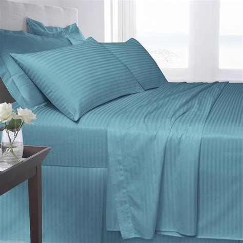satin stripe bed linen cotton satin stripe 250 tread count fitted bed