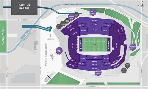 map us bank locations stadium maps u s bank stadium