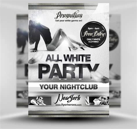 template flyer white party free all white party flyer template professional sles