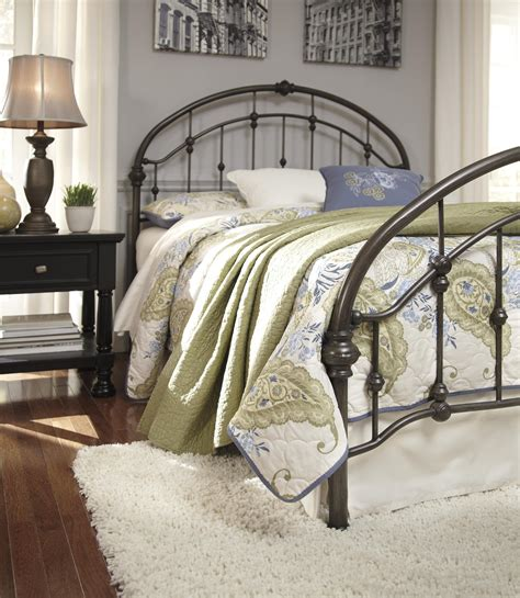 ashley furniture metal beds ashley signature design nashburg king arched metal bed in