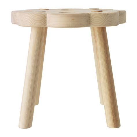 ikea ryssby natural wooden stool chair footstool solid