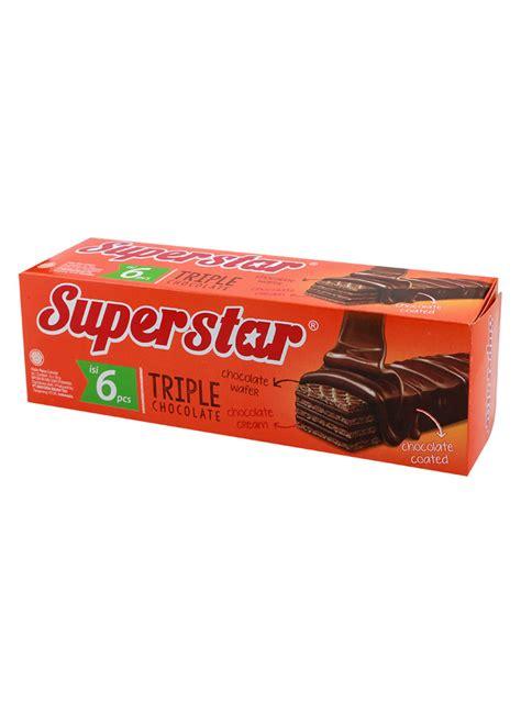 Wafer Nabati Rasa Cokelat 145gr superstar wafer chocolate box 6x18g klikindomaret