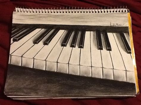 le piano le piano in charcoal by jessrose1214 on deviantart