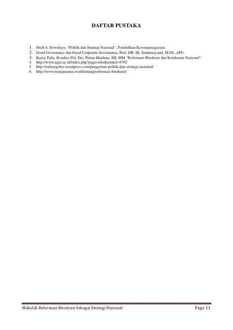makalah strategi layout makalah reformasi birokrasi sebagai strategi nasionaldocx