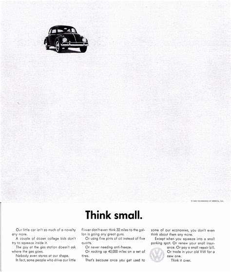 volkswagen think small vw think small pictures to pin on pinsdaddy