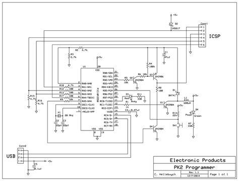 pic kit ii clone circuit pickit 2 programmer circuit diagram circuit and