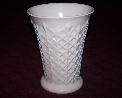 Pink Milk Glass Vase by Jeannette Pink Milk Glass Vase Jeannette Glass Co Ca 1957
