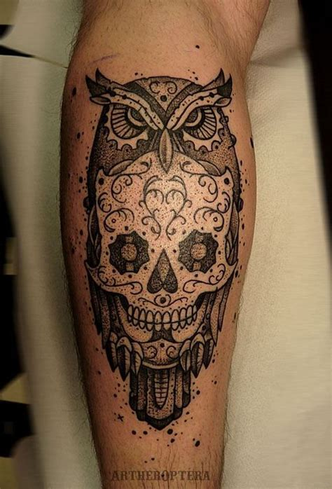 owl and sugar skull tattoo 17 best images about skull on colorful owl