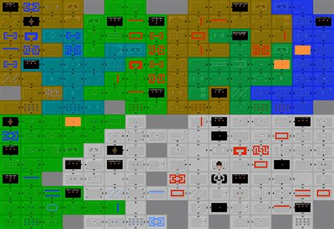 legend of zelda map layout nesdev com view topic zelda fds and general disk