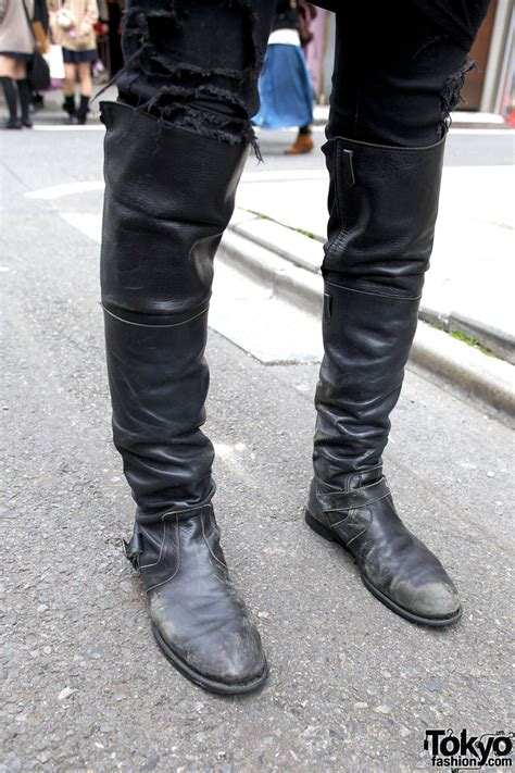 high boots for mens knee high men s boots in harajuku tokyo fashion news
