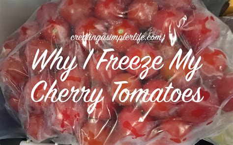freeze  cherry tomatoes creating  simpler life