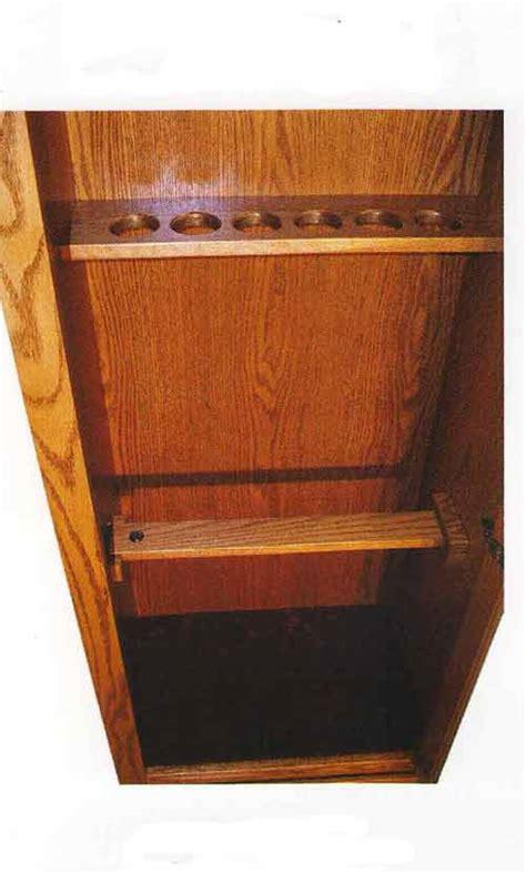 barrel rest for gun cabinet amish gun cabinets in standard designs amish custom gun