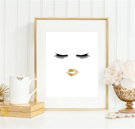 8x10 bathroom bathroom wall art bathroom art print makeup art 5x7 8x10