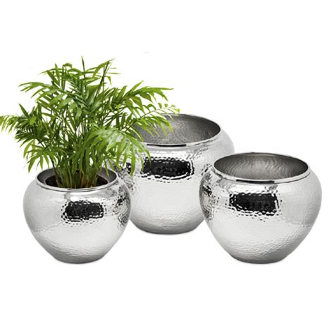 Large Silver Planter by Flowerpot Silver 14x17 Cm Big Planters Planter